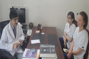 Ms.Iwona Dorn & Ms.Radiance, Podiatry students from UK visit IAD